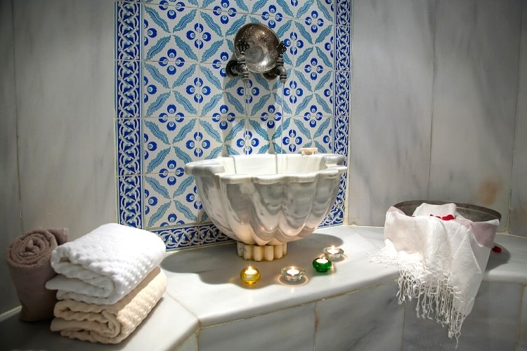 Preparation for the Turkish Hammam bathing process